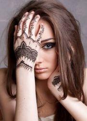 Mehendi Na Nadgarstku ładniutki Tymczasowy Tatuaż