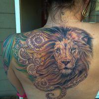 Tatuaż Lew Co Oznacza Rysunek Z Królem Zwierząt