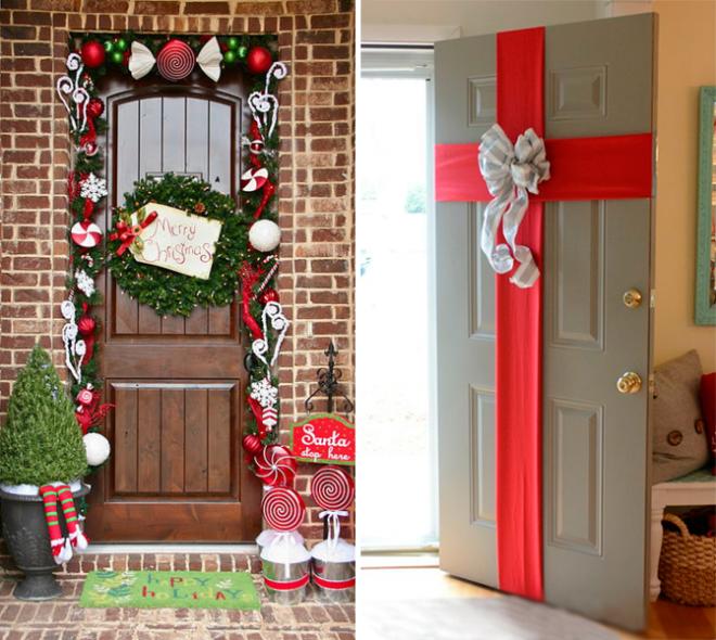 Декор для входной двери своими руками 432