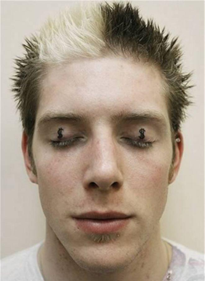 20 Przerażających Tatuaży Na Powiekach