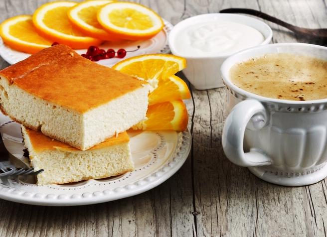 Творожная запеканка с апельсином рецепт с фото