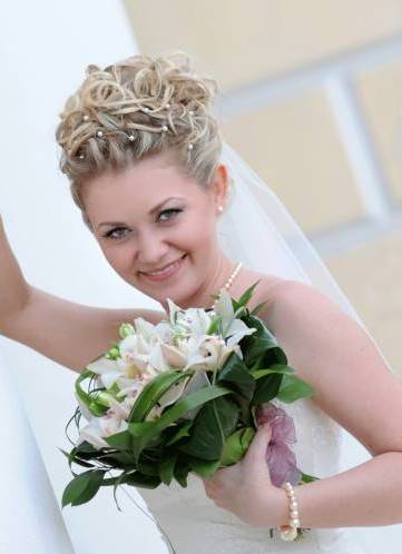 Fryzury ślubne Dla Krótkich Włosów Z Welonem