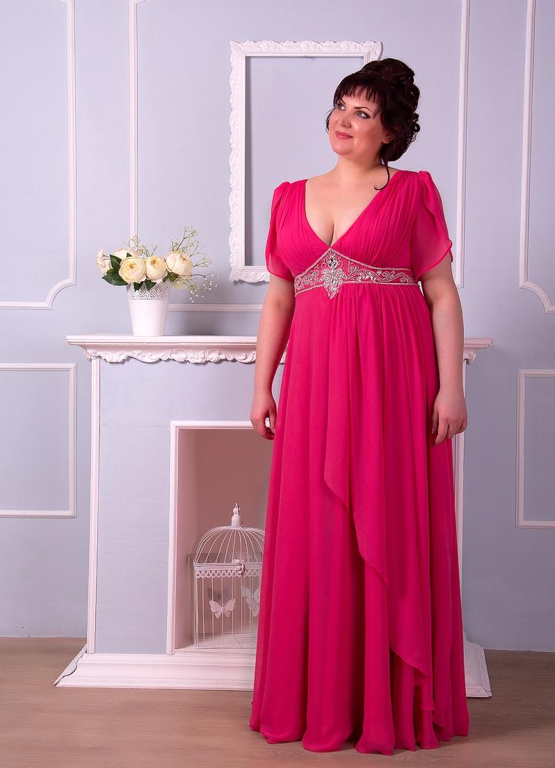 Вечернее платье большого размера для свадьбы