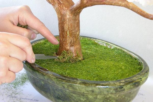 Как сделать искусственный мох
