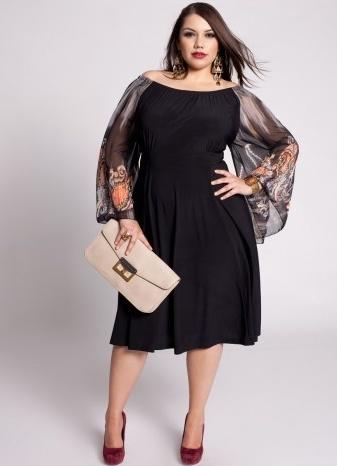 e465b20446 Piękne sukienki dla puszystych kobiet – wyszczuplające stroje odświętne